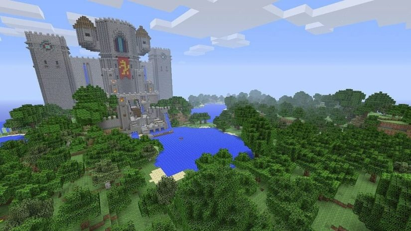 Survol d'un site dans Minecraft