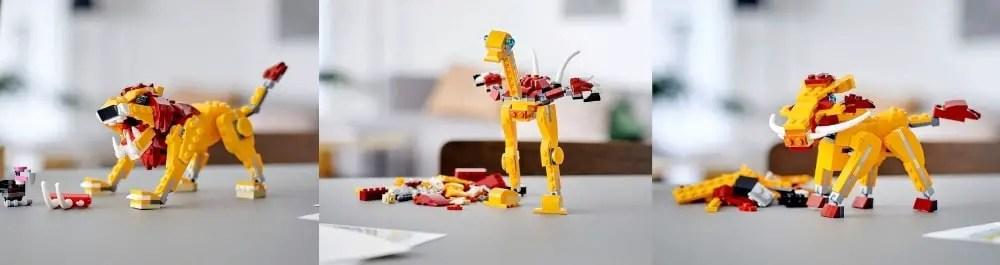 LEGO Creator 3-in-1 propose 3 constructions avec les mêmes pièces