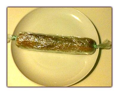 L'objet avant cuisson