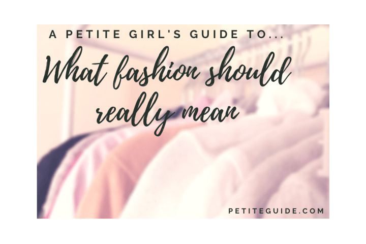What Fashion Should Really Mean