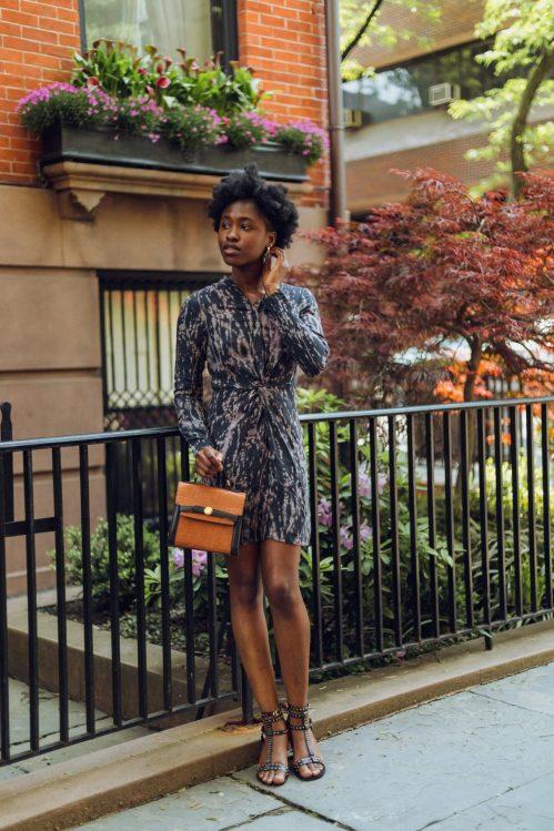 Posing in a Tie Dye dress