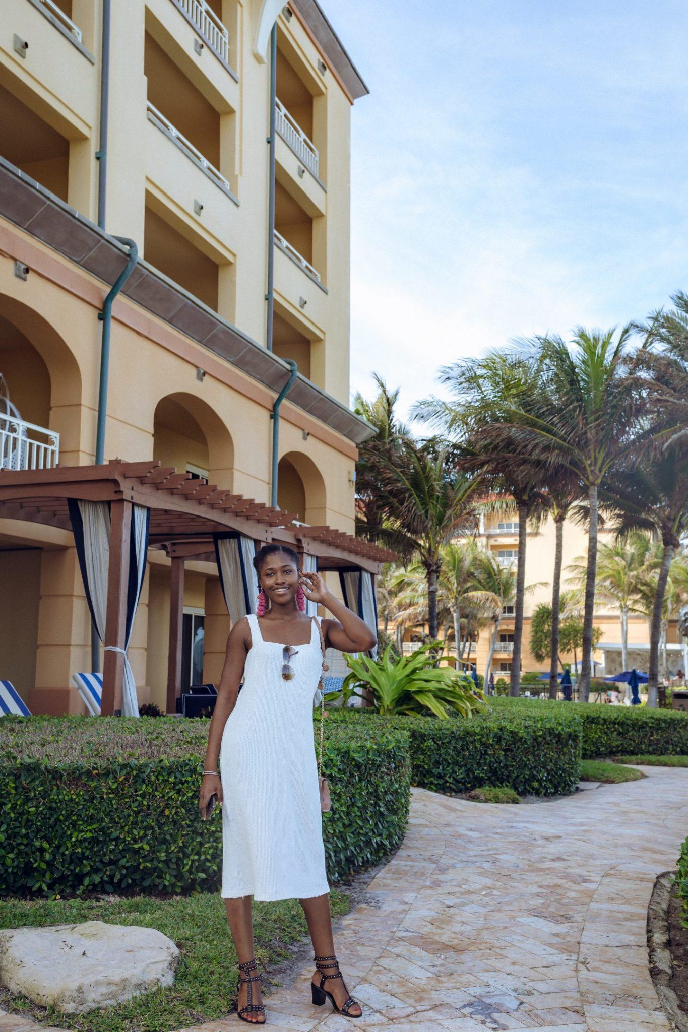 Black Female posing at Eau Palm Beach