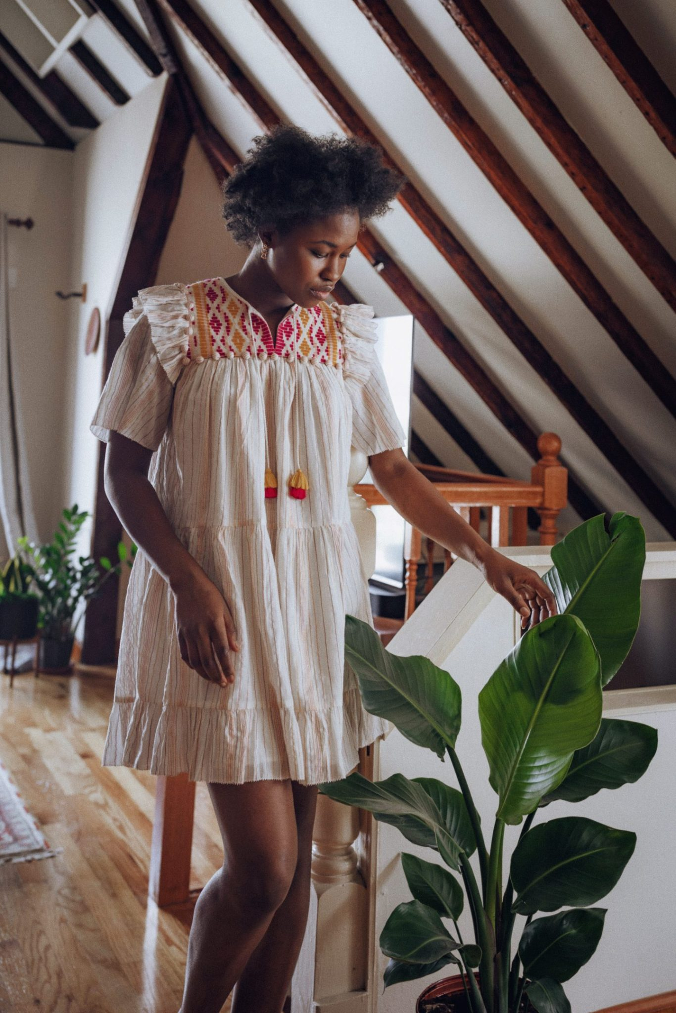 Black Women with Plant