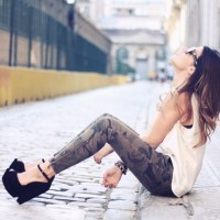 Pantalon camouflage femme