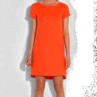 Une robe en lin couleur Corail