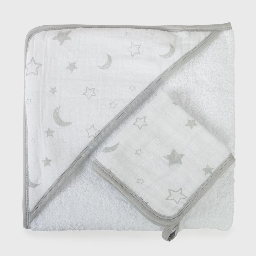 Baby Muslin Hooded Towel Set