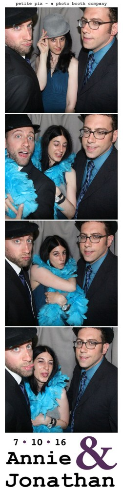 Petite Pix Classic Photo Booth at the Cicada Club in Downtown Los Angeles for Annie and Jonathan's Wedding 7