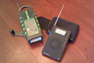 The Eton Scorpion and the Grundig Mini-400 are two examples of a good radio for a typical blackout.