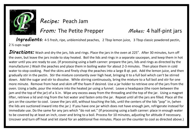 Microsoft Word - Peach Jam Recipe