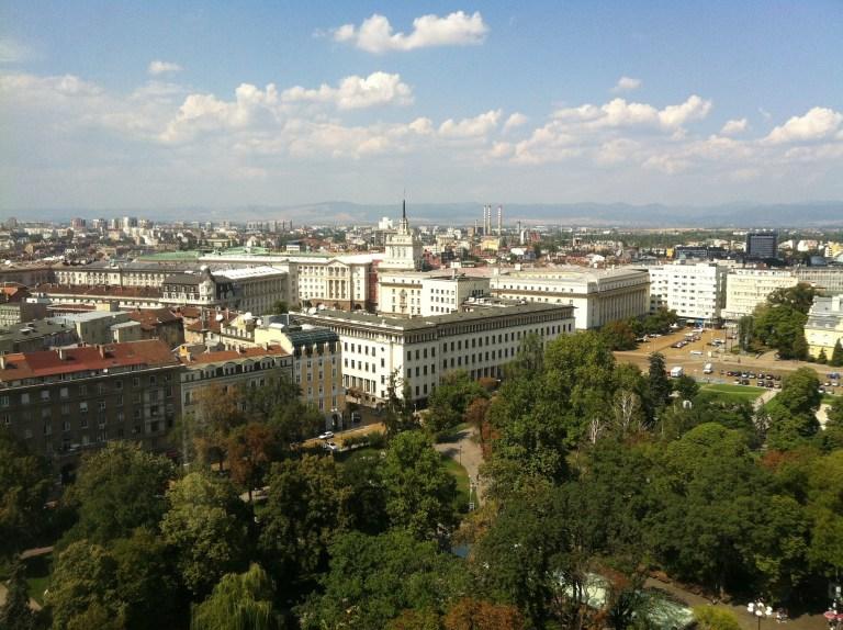 immeubles dans la ville de Sofia en Bulgarie, une des destinations pas chères en europe