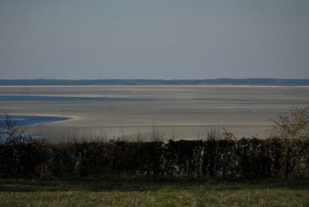 vue sur la Baie de Somme à st valery en caux