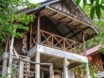 Mon bungalow à flanc de colline, chez Tabeak View Point. Koh Yao Noi, Thaïlande, février 2009.