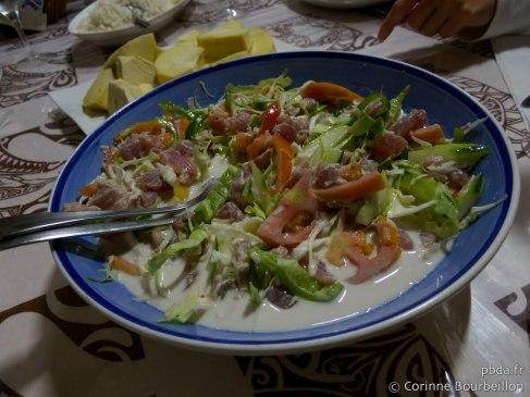 Salade de poisson cru au lait de coco. Maupiti. Polynésie, octobre 2012.