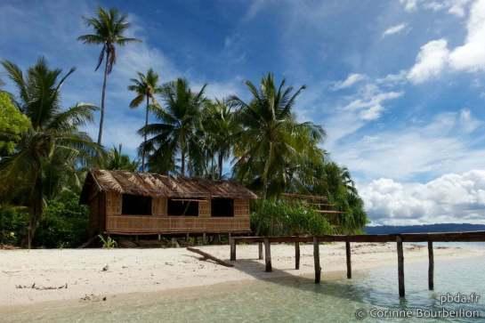 Homestay à Arborek. Raja Ampat. Papouasie, Indonésie, juillet 2012.