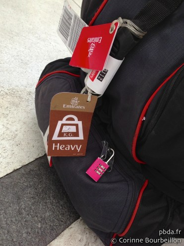 Mon sac... 29 kilos au retour. Mars 2013.
