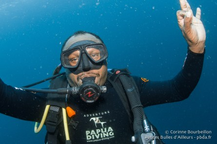 Fin de plongée avec Otto. Raja Ampat, Indonésie, janvier 2015.