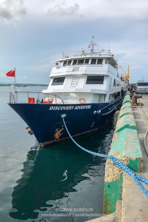 Le Discovery Adventure avant le départ. (Puerto Princesa, Palawan, Philippines, mai 2018)