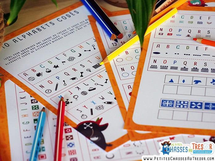 Exemple d'alphabets codés pour enfants