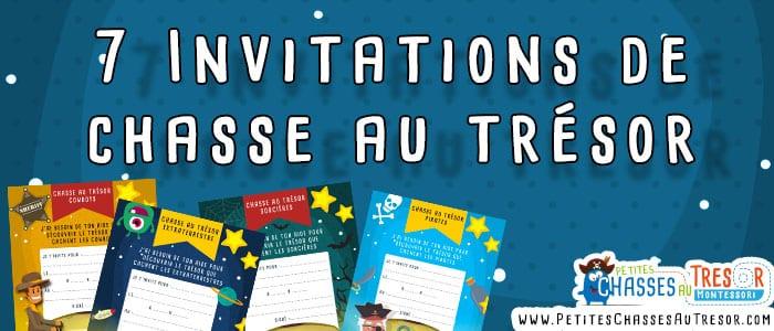 Modèle invitation anniversaire chasse au trésor