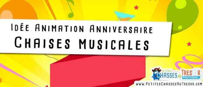 Jeux pour anniversaire d'enfant avec les chaises musicale