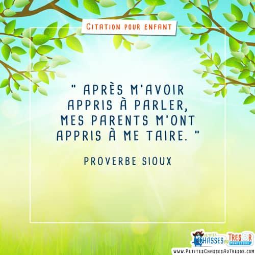 proverbe pour parents et enfants