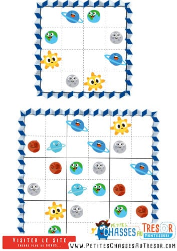 Sudoku va facilement pour enfant avec des images