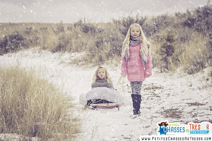 s'amuser en extérieur en hiver