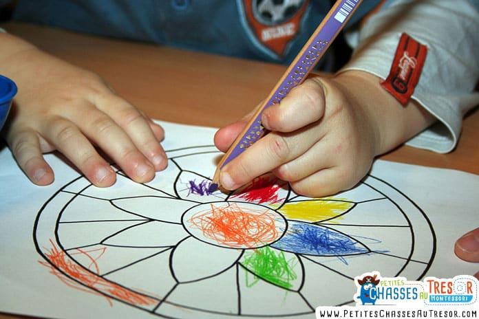 Coloriage mandala facile pour petit