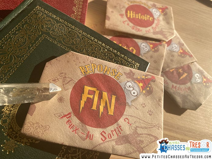 Réponse escape game harry potter