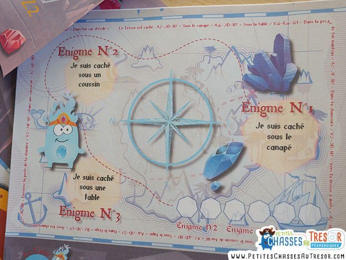 Carte au trésor pour une chasse au trésor avec des enfants de 5 ans