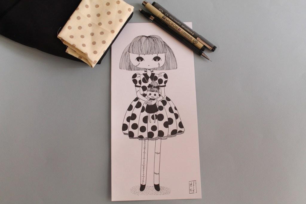 dessin confiture de poème poupée