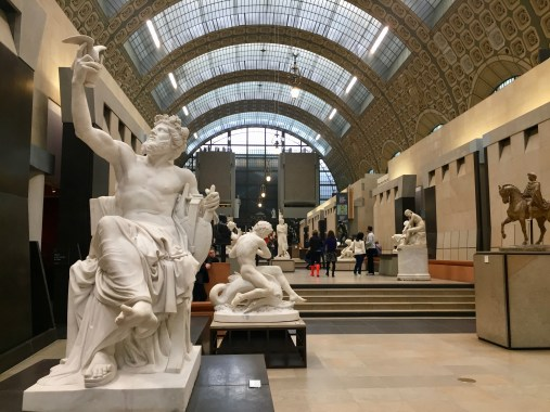 Beautiful marble sculptures greet visitors upon entry into the museum.
