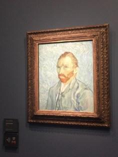 Classic self-portrait of famous painter Van Gough.