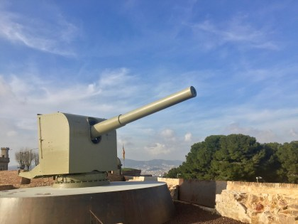 While there were very few furnishings, there were several old canons on display.