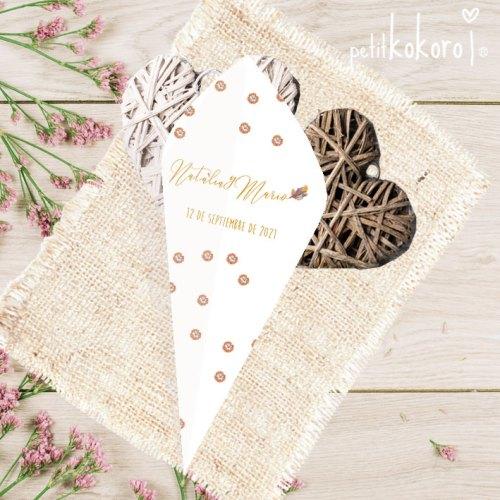 Cono-confetti-petalos-arroz-modelo-Bellota-Petitkokoro