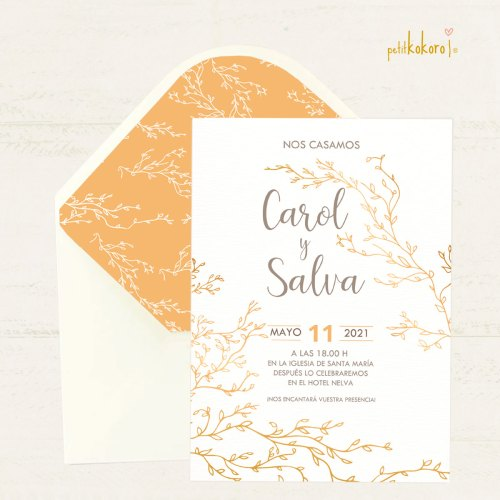 Invitación-boda-Gold Spring-II-Petitkokoro