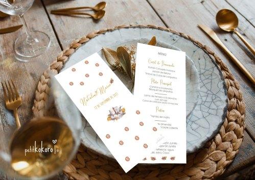 Tarjeta-menú-boda-modelo-Bellota-Petitkokoro