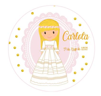 chapas-comunión-niña-modelo-Carlota-blonda