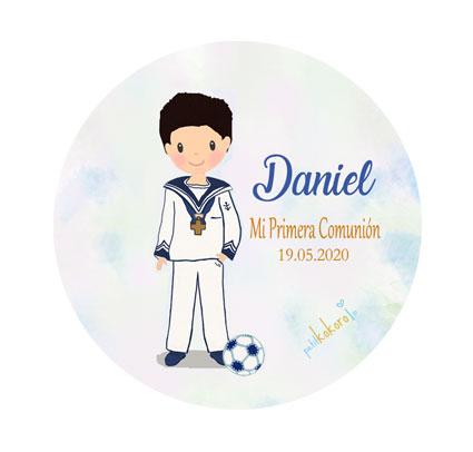 Chapas comunión niño modelo Daniel fútbol
