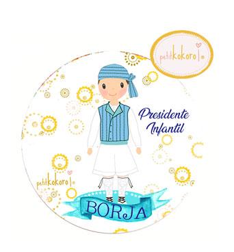 chapa-presidente-infantil-personalizada