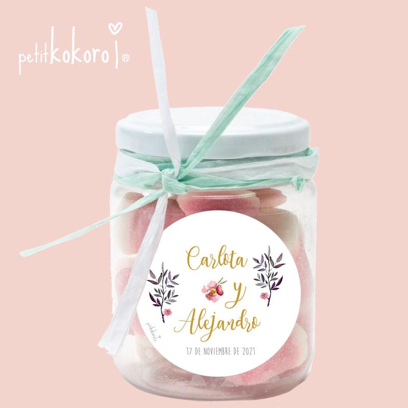 etiqueta-adhesiva-regalo-boda-Orla-Floral-comunión-bautizo-Petitkokoro