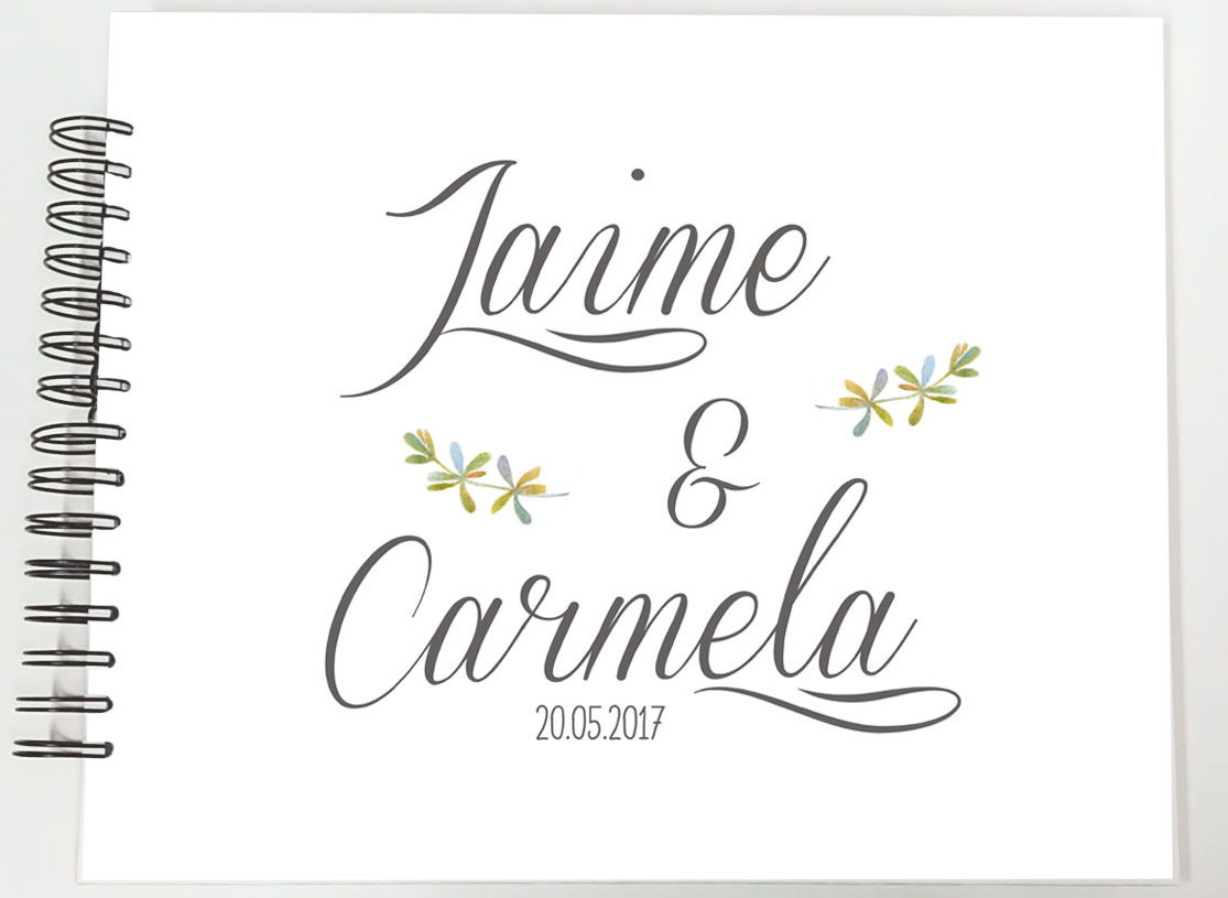 Libro de firmas personalizado álbum de fotos boda Petitkokoro modelo Jaime
