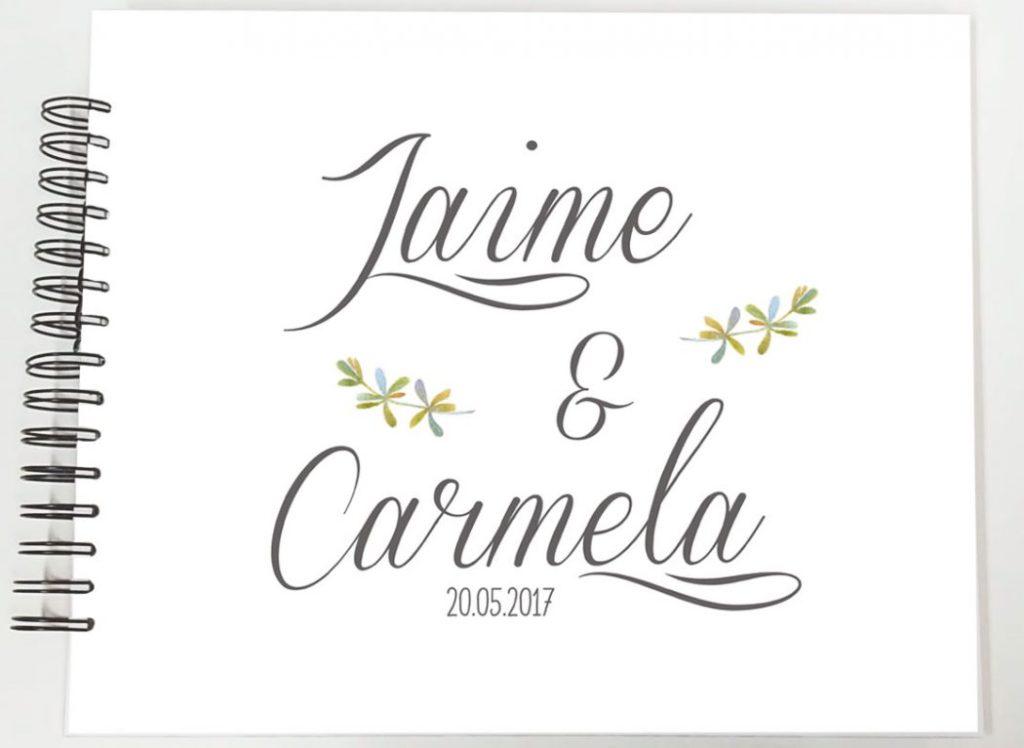 libro de firmas boda álbum fotos boda Petitkokoro modelo Jaime