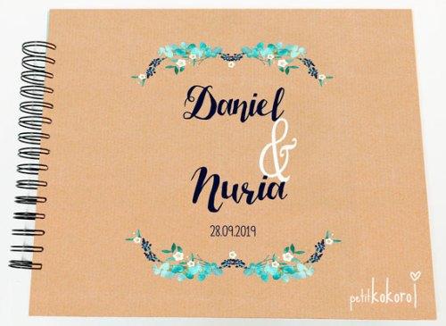 libro de firmas boda /álbum de fotos personalizado petitkokoro modelo Daniel