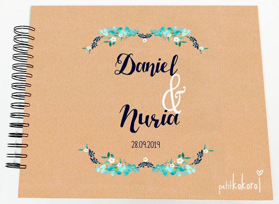 Libro de firmas álbum de fotos boda Petitkokoro modelo Daniel