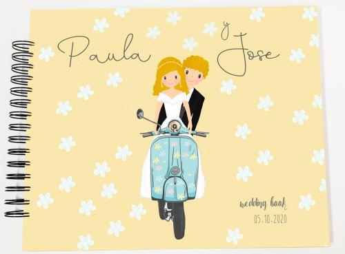 libro de firmas álbum fotos boda personalizado petitkokoro modelo Paula