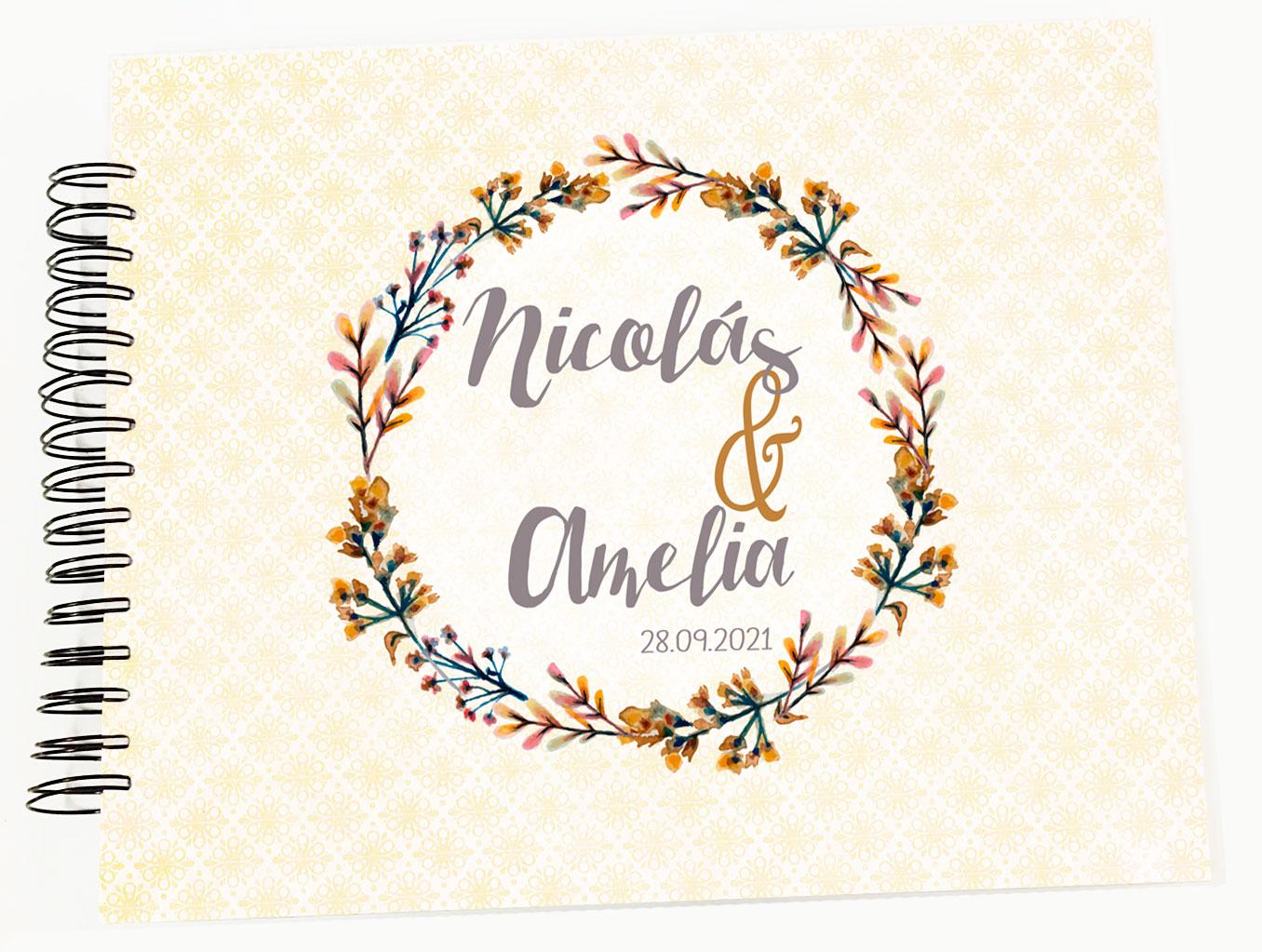 Libro de firmas álbum personalizado de fotos boda Petitkokoro modelo Nicolás
