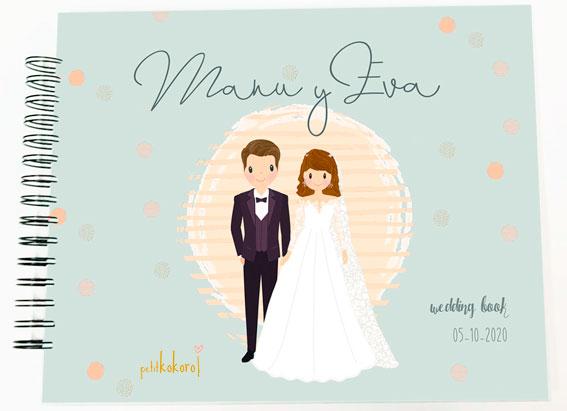 Libro de firmas álbum personalizado de fotos boda Petitkokoro modelo Manu
