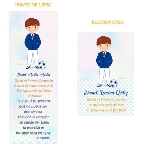 punto-de-libro-y-recordatorio-comunion-niño-modelo-Daniel-futbol Petitkokoro