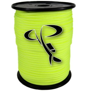 Fil polyester jaune fluo 2 mm